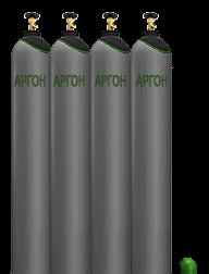 Аргон газообразный в баллоне, 10 л - ПРОМГАЗ