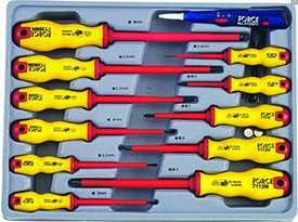 Набор отверток диэлектрических 12 предметов (ШЛИЦ. 2.4, 3, 3.5, 4, 5.5, 6.5, 8ММ + PH.0,1,2,3, ИНДИКАТОР)