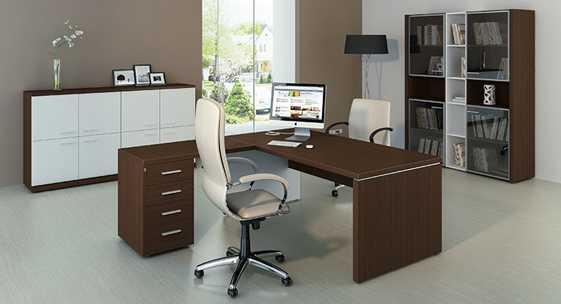 Коллекция офисной мебели для руководителя «Латте»