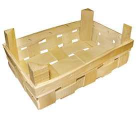 Ящик BX 02 деревянный из шпона для грибов и ягод