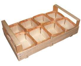 Ящик BX 01 (с 8 чашами) деревянный из шпона для грибов и ягод
