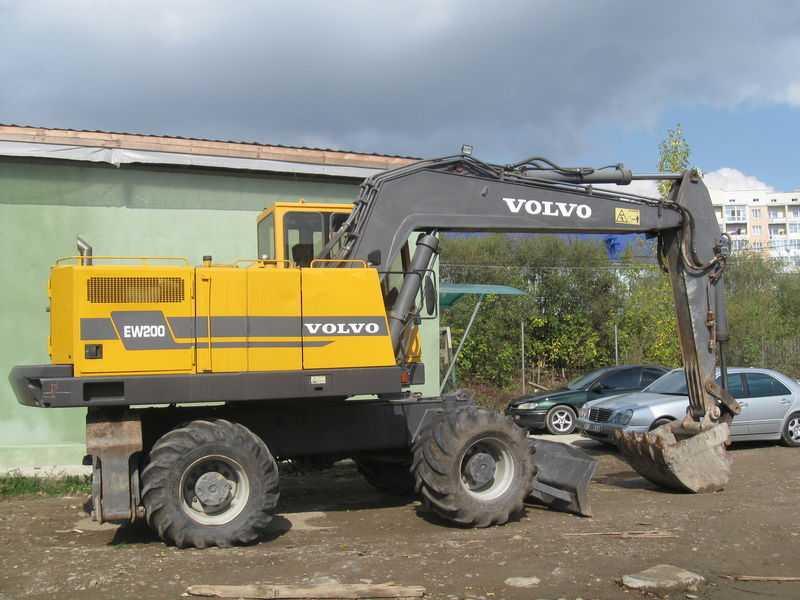 Аренда Экскаватора колесного Akerman-Volvo EW 200