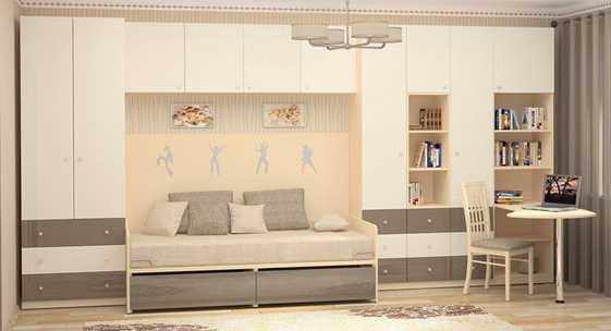 Коллекция мебели для подростков «СИЛУЭТ»