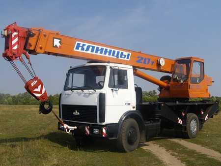 Аренда автокрана Клинцы 20 тонн
