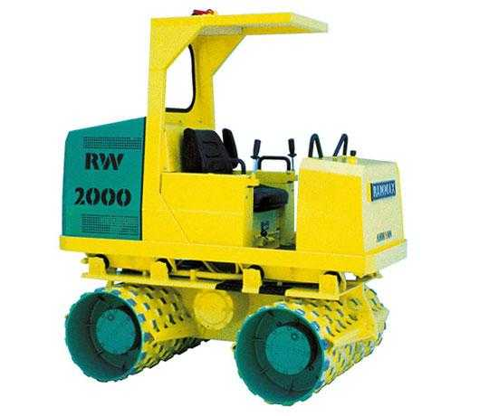 Аренда виброкатка грунтового RAMMAX RW 2000