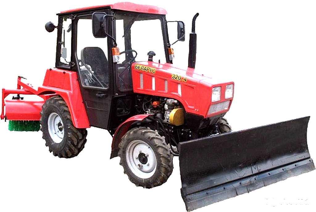 Аренда мини трактора - щетка на базе МТЗ-320