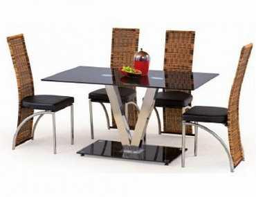 Стол обеденный СК35 из стекла и металла