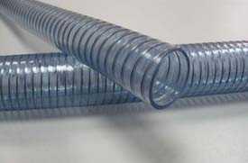 Шланг из ПВХ и полиуретана, армированный стальной спиралью WIRE FOOD