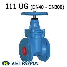 Задвижка чугунная с обрезиненным клином тип 111 UG DN40 – DN300 (Zetkama)