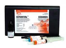 Керамгель (набор гелей для травления металлокерамики) с праймером-адгезивом