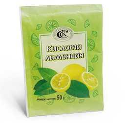 Лимонная кислота в пакетиках, 50 г