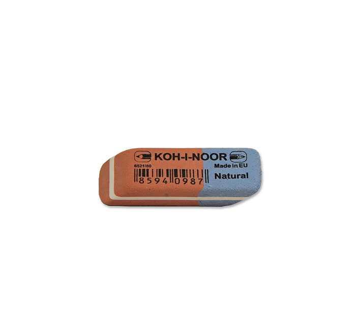 Ластик KOH-I-NOOR комбинированный , 40Х15Х7 мм