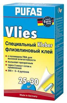 Флизелиновый клей специальный EURO 3000 PUFAS