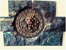 Декоративный элемент ЛЕВ с окантовкой Неаполь