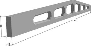 Балки железобетонные стропильные решетчатые