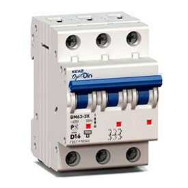 Автоматический выключатель ВМ63 3Р OptiDin