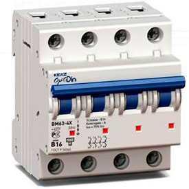 Автоматический выключатель DZ47-60 2C, 3C, 3D 3P