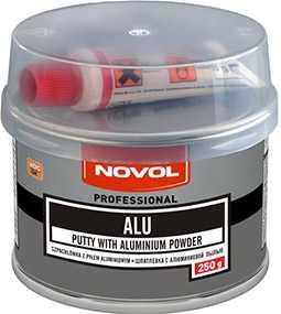 Шпатлевка ALU с алюминиевой пылью (250 гр), NOVOL