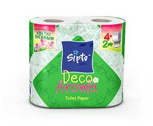 Двухслойная туалетная бумага Sipto Deco Aroma Луговые цветы