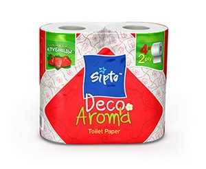 Двухслойная туалетная бумага Sipto Deco Aroma Клубника