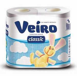 Туалетная бумага двухслойная Linia Veiro 4 рулона в пачке