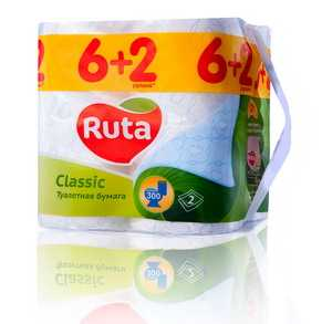Туалетная бумага RUTA Classic 8 рулонов