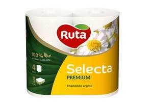 Туалетная бумага Ruta Selecta 4 рулона