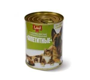 Консервы для кошек и собак MiLord Консервы мясные 'Аппетитные' 338 гр