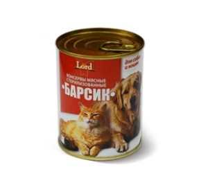 Консервы для кошек и собак MiLord Консервы мясные 'Барсик' 338 гр