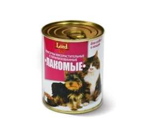 Консервы для кошек и собак MiLord Консервы мясорастительные 'Лакомые' 338 гр