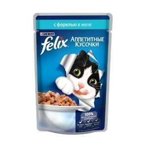 Felix консерва для кошек с форелью в желе 85 гр