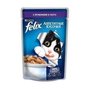 Felix консерва для кошек с ягненком в желе 85 гр