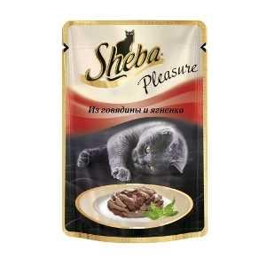 Sheba Pleasure из говядины и ягненка 85 гр