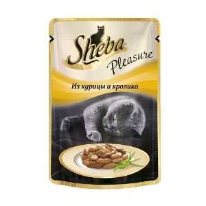Sheba Pleasure из курицы и кролика 85 гр
