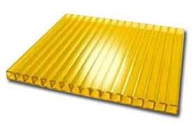 Сотовый поликарбонат 4,0 желтый разм. 2,1х6м