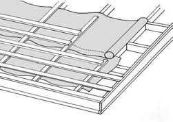 Подкладка под металлочерепицу (антиконденсатная и пароизоляционная) RA6U-B - Rannila Ruukki