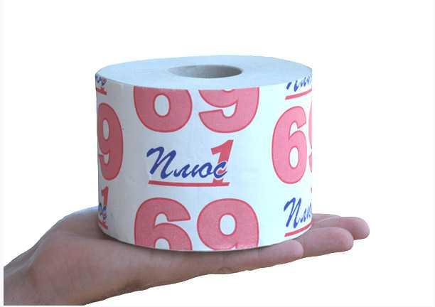 Бумага туалетная на втулке 80х125мм 160г