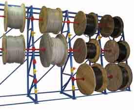 Стеллажи для кабельных барабанов