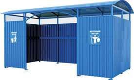 Навес для контейнеров по сбору ТБО