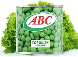 Горошек зеленый консервированный в/с металлической банке с простой крышкой 400 гр. РБ