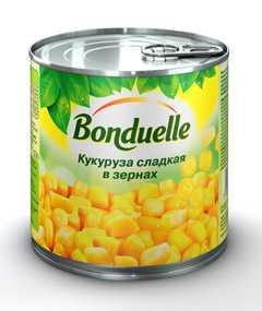 Кукуруза сахар Бондюэль консервированная в металлической банке