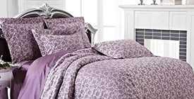 Белье постельное, модель ЭЛЕГАНТ (цветение - черничный) - Лангхайнрих Конфекцион Бел