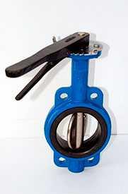Затвор дисковый, поворотный, чугунный, межфланцевый, с рукояткой VANTA H 12002