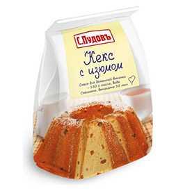 Кекс с изюмом п/п 400г