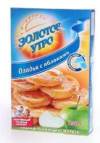 Оладьи с яблоками к/к 250г