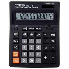 Калькулятор CITIZEN SDS444S, 12 разрядный, бухгалтерский