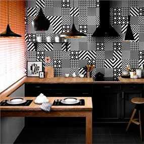 Плитка керамическая Фристайл черно-белая