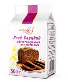 Хлеб Слуцкий ржано-пшеничный для хлебопечки 500г