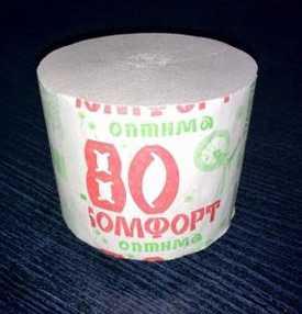 Туалетная бумага без втулки Комфорт оптима 80