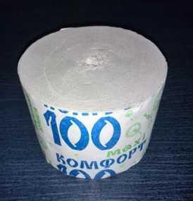 Туалетная бумага без втулки Комфорт maxi 100